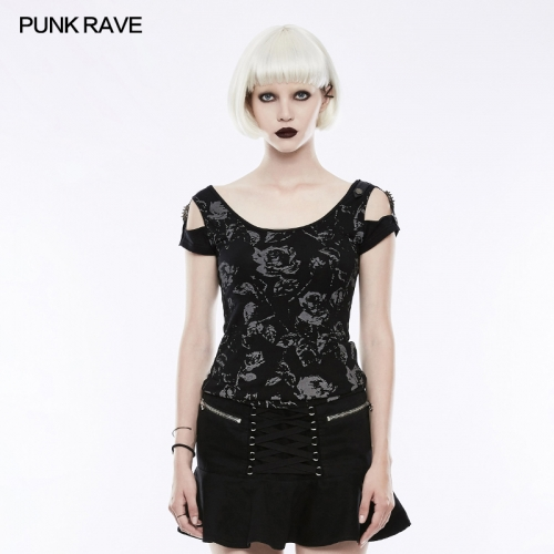PUNK RAVE women knit shirt WT-493TDF