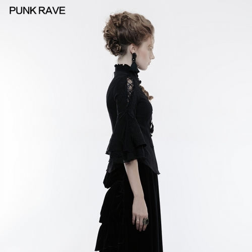 PUNK RAVE women gothic long sleeve blouse WY-859CCF