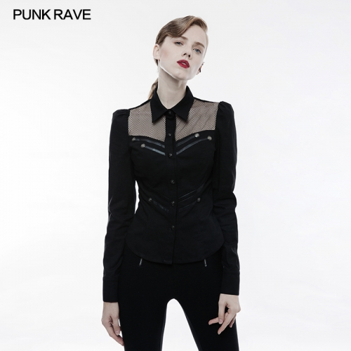 PUNK RAVE women long sleeve blouse WY-833CCF