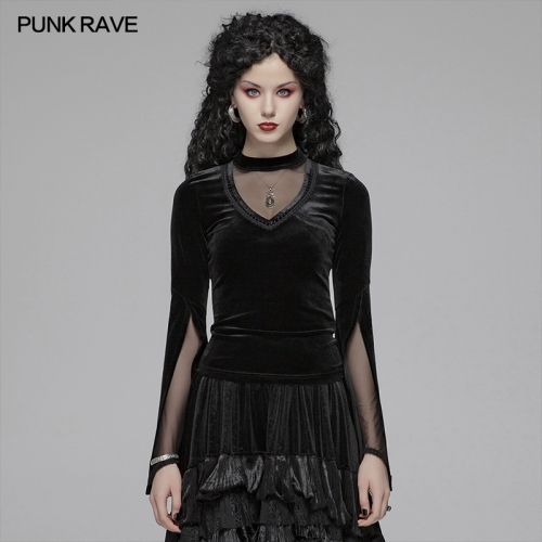 PUNK RAVE women autumn&winter t-shirt OT-568TCF