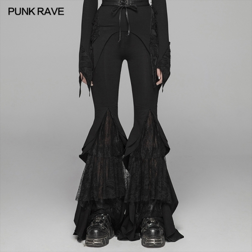 PUNK RAVE women gothic trousers WK-379XCF