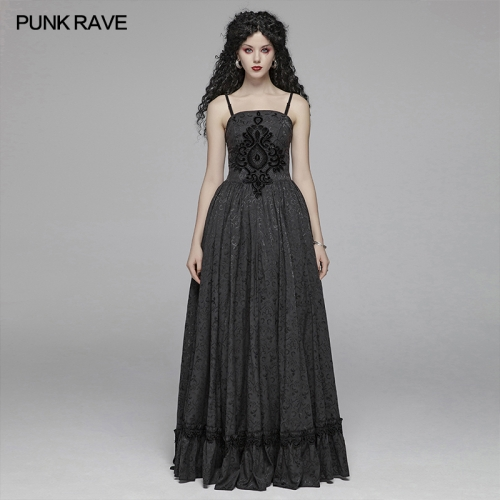 PUNK RAVE women gothic dress WQ-420LQF