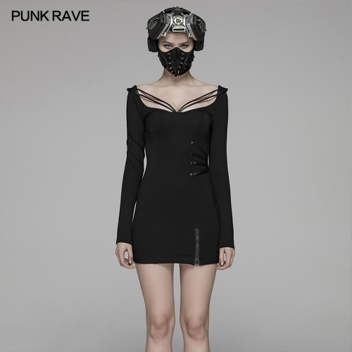 PUNK RAVE women dress WQ-416LQF