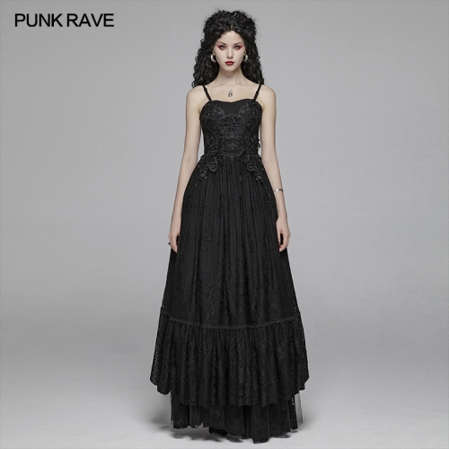PUNK RAVE women gothic dress WQ-421LQF