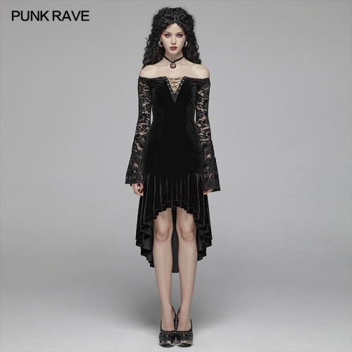 PUNK RAVE women gothic dress WQ-418LQF
