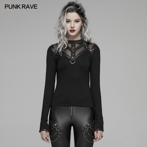 PUNK RAVE women t-shirt WT-567TCF