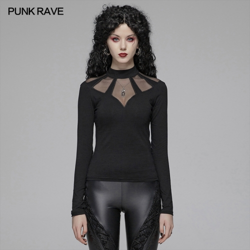 PUNK RAVE women gothic t-shirt WT-569TCF