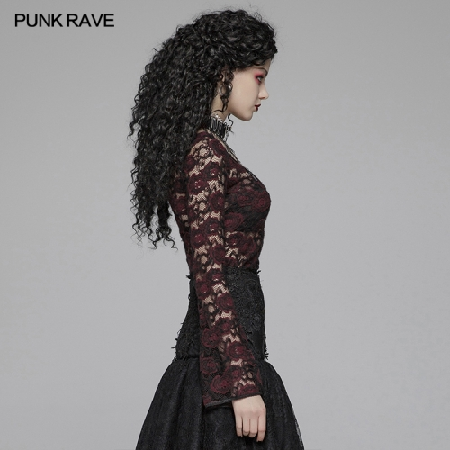 PUNK RAVE women gothic t-shirt WT-573TCF