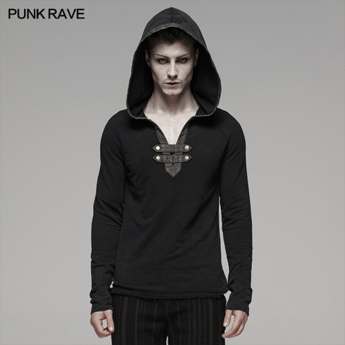 PUNK RAVE men fleece t-shirts WT-582TCM