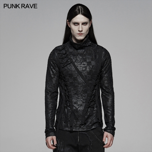 PUNK RAVE men t-shirt WT-583TCM