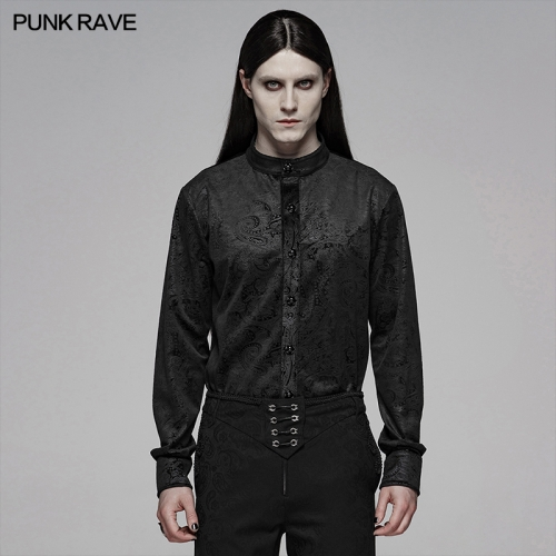 PUNK RAVE men gothic blouse WY-1067CCM