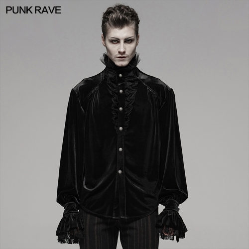 PUNK RAVE men gothic blouse WY-1070CCM