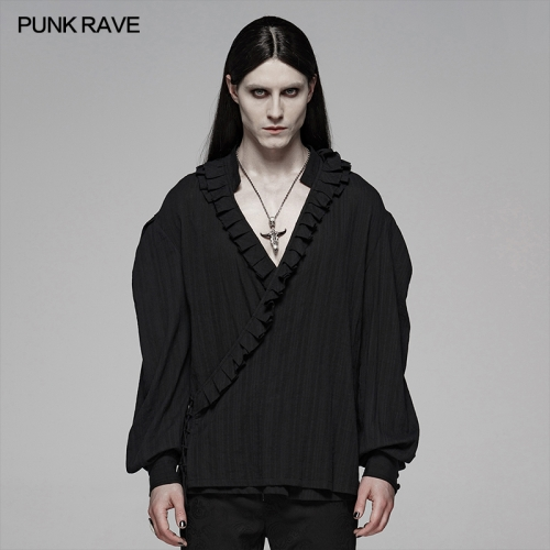 PUNK RAVE men gothic blouse WY-1113CCM
