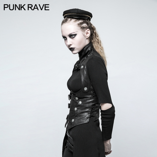 PUNK RAVE Wholesale Steampunk waistcoats women tight sexy waistcoats fashion waistcoats Y-775