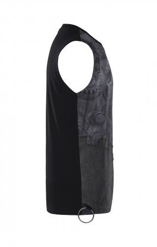 PUNK RAVE summer printed mens black sleeveless vest T-466