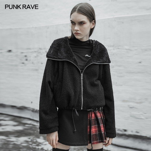 PUNK RAVE Unicorn short velvet coat OPY-378XDF