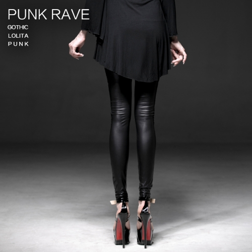 PUNK RAVE Lamination mesh lace fake boot legging K-186