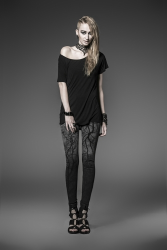 PUNK RAVE tights with the branches hanging coloured K-181