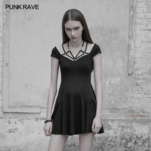 PUNK RAVE Sexy Tight Strap Dress OPQ-395LQF