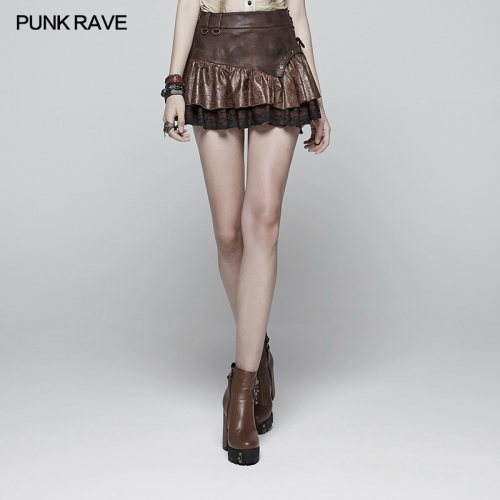 PUNK RAVE Steamy Punk Miniskirt WQ-385BQF-CO