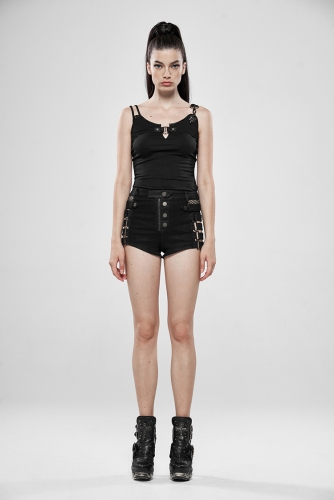 PUNKRAVE Metallic Rock Hollow Denim Shorts WK-393NDF
