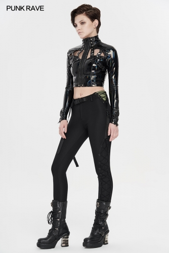 Punk stretch leggings WK-426XCF