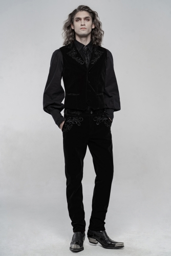 Exquisitely embroidered gothic Men's vest WY-1270MJM